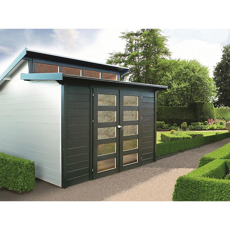 abri de jardin milano 28 mm 8 58m maison et loisirs e. Black Bedroom Furniture Sets. Home Design Ideas