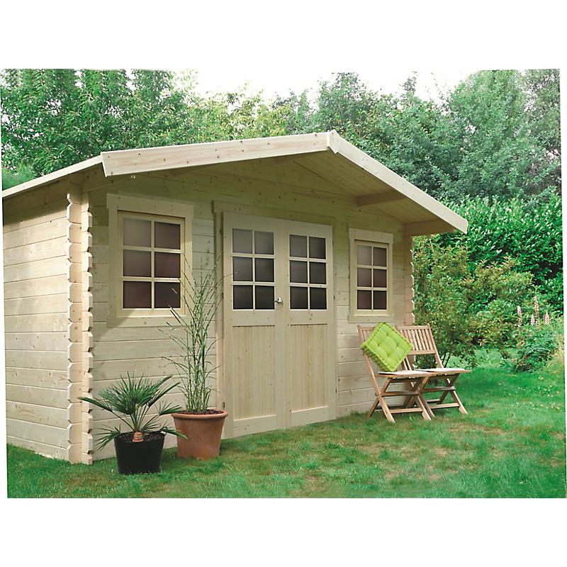 Abri de jardin bois DOLE 28 mm 10 m²