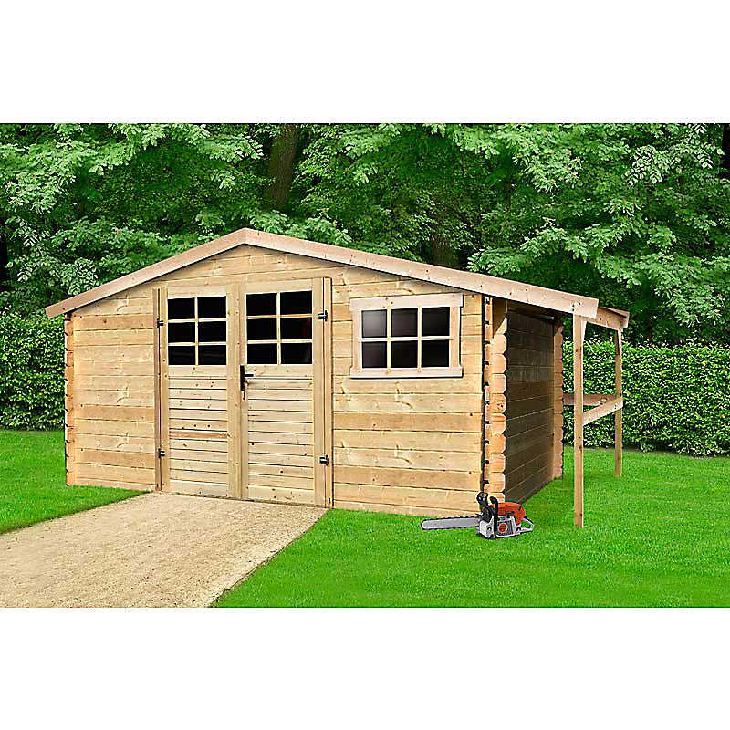 Abri de jardin bois 28 mm 10 m²
