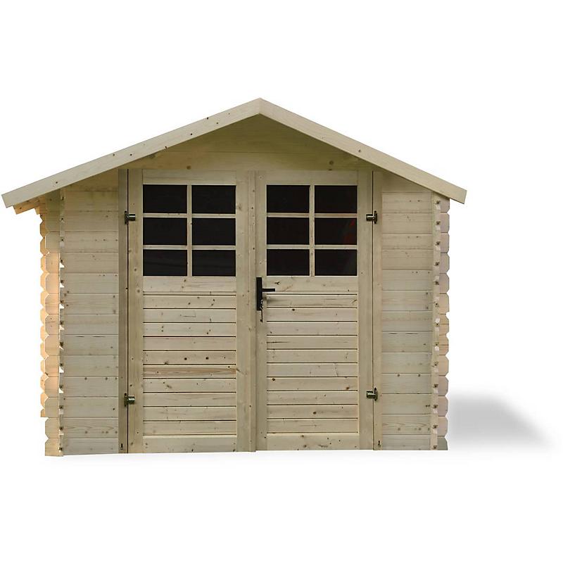 Abri de jardin bois 28 mm 7,53 m²