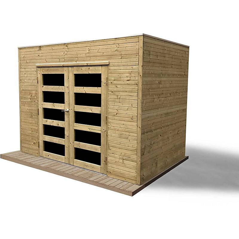 Abri de jardin bois CAPRI 19 mm 5,75 m² Maison et