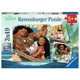 Puzzles 3X49 P - La Légende Du Bout Du Monde / Disney Vaiana - Vaiana - 4005556080045