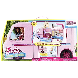 BARBIE CAMPING CAR TRANSFORMABLE - FBR34