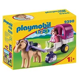 Carriole avec cheval - 9390
