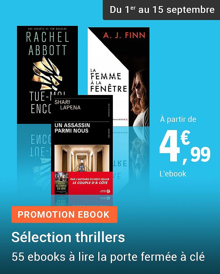 Promotion Ebook - Sélection thrillers