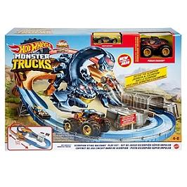 Hot Wheels - Coffret Scorpion Monster Trucks - Circuit Petite Voiture - 4 Ans Et + - Hot Wheels - GNB05
