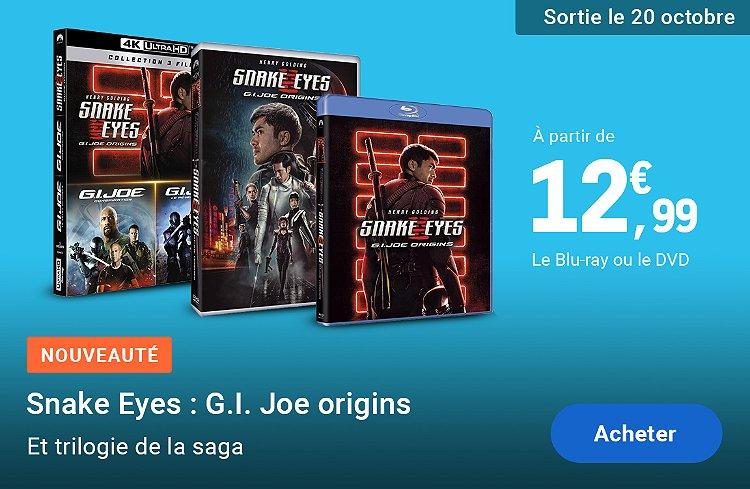 Nouveauté DVD & Blu-ray Snake Eyes : G.I. Joe Origin