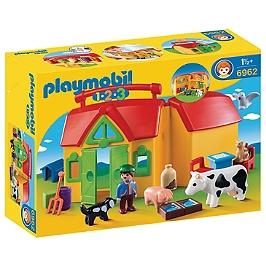 PLAYMOBIL - Ferme Transportable Avec Animaux  - 6962