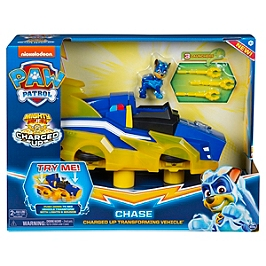 Vehicule Deluxe Chase Mighty Pups Charged Up Paw Patrol - Paw Patrol - 6055932