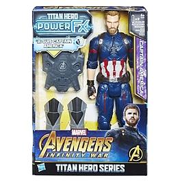 AVENGERS INFINITY WAR - FIGURINE TITAN POWER PACK 30 CM CAPTAIN AMERICA - Avengers Infinity War - E06071010