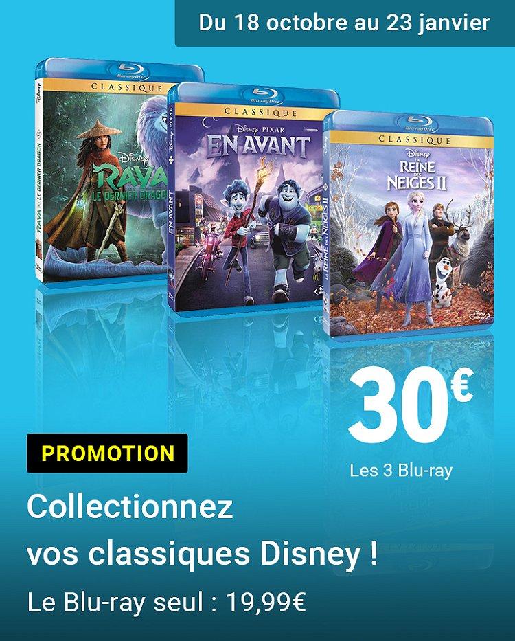 Promotion 3 Blu-ray classiques Disney pour 30€