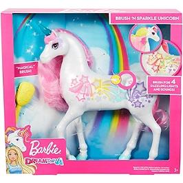 Barbie - Licorne Arc-En-Ciel Sons Et Lumière - Poupée Mannequin  - 3 Ans Et +  - Barbie - GFH60