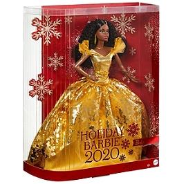 Barbie Signature - Barbie Joyeux Noel 2020 Brune - Poupée Mannequin De Collection - 6 Ans Et + - Barbie Collector - GHT55