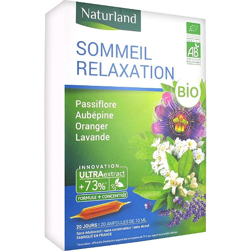 Sommeil relaxation bio 20 ampoules 10ml