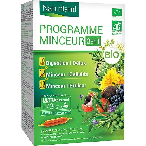 Programme minceur 3en1 bio 3x10 ampoules 10ml
