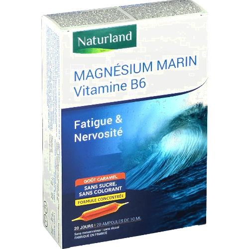 Magnésium marin + B6 20 ampoules
