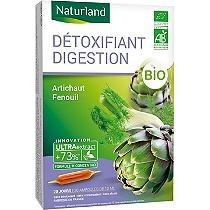 Détoxifiant digestion bio 20 ampoules buvables 10ml