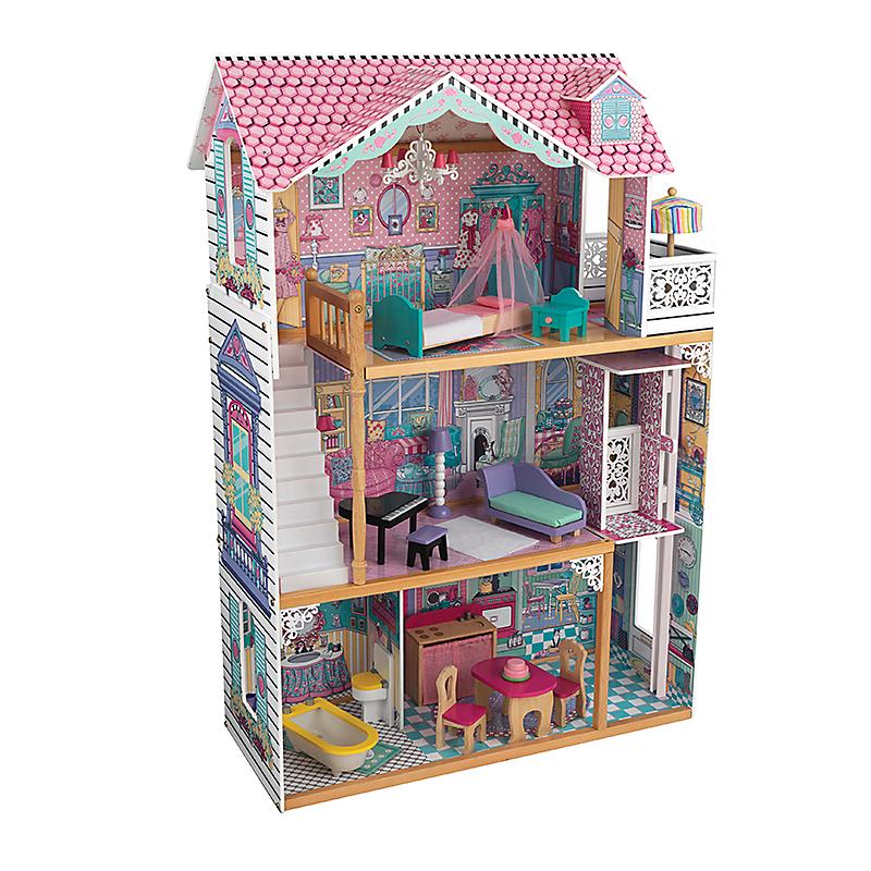 maison de poup e bois annabelle 120 cm kidkraft maison. Black Bedroom Furniture Sets. Home Design Ideas