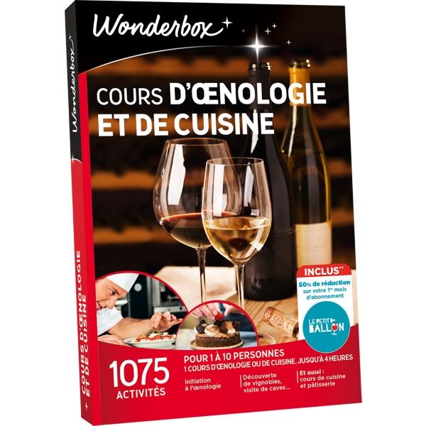 Box Cours Doenologie Et De Cuisine Wonderbox Espace Culturel E - Box cours de cuisine