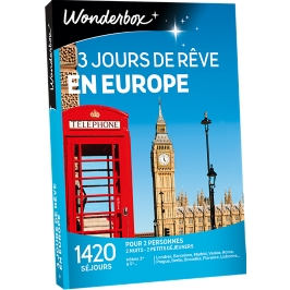 Wonderbox - 3 jours de rêve en Europe