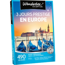 Wonderbox - 3 jours prestige en Europe