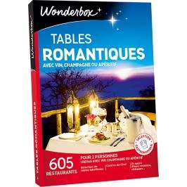 Wonderbox - Tables romantiques avec vin, champagne ou apéritif