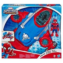 Marvel Spider-Man Playskool Super Hero Adventures  Jet Qg Spider-Man Et Figurine 12,5 Cm - Marvel Super Hero Adventures - E4840EU4