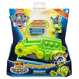Vehicule + Figurine Rocky Mighty Pups Charged Up Paw Patrol (Solid)  - Paw Patrol - 6056875