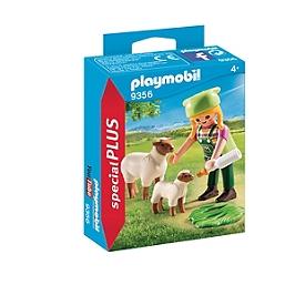 Fermière avec moutons - 9356
