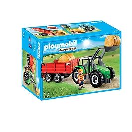 PLAYMOBIL - Tracteur avec pelle et remorque - 6130