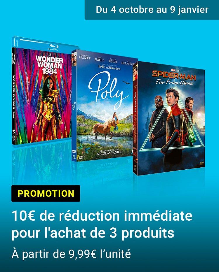 Promotion : 3 produits achetés = 10€ de réduction immédiate