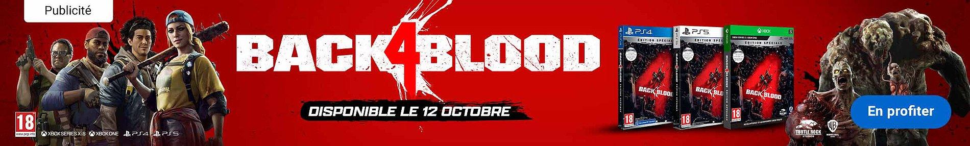 Nouveauté Back 4 Blood