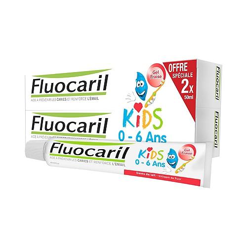 Dentifrice fluocaril 2x50ml