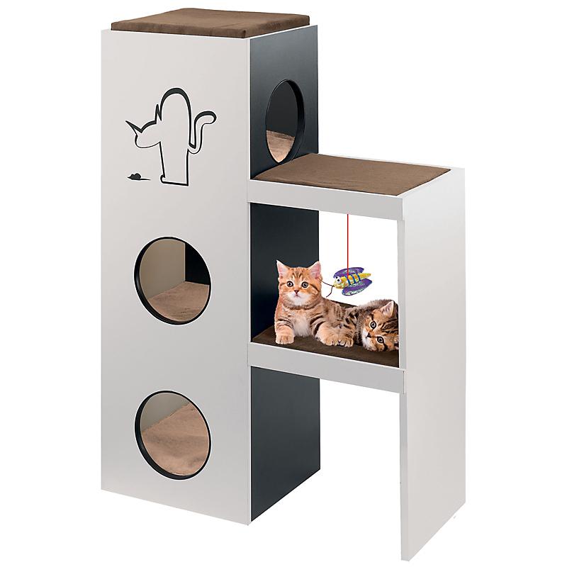 arbre chat bois napol on maison et loisirs e leclerc. Black Bedroom Furniture Sets. Home Design Ideas