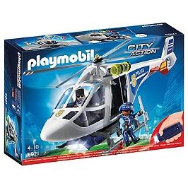 PLAYMOBIL - Hélicoptère De Police Avec Projecteur  - 6921