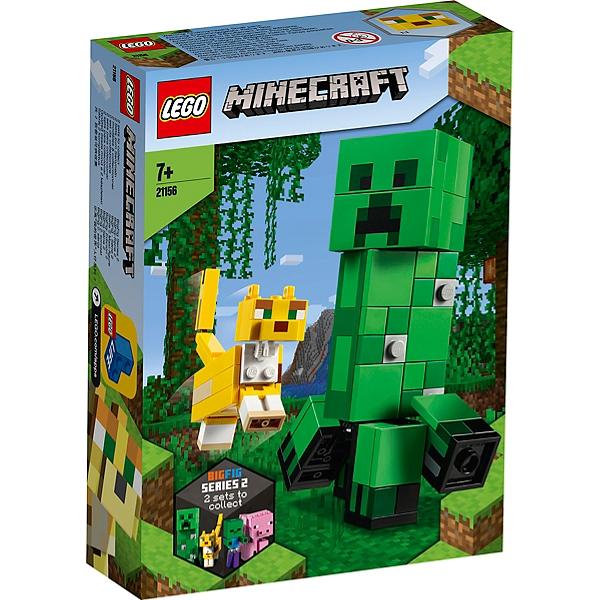 Lego Minecraft Bigfigurine Creeper Et Ocelot 21156 Jouets