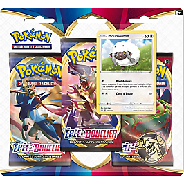 Pokémon : Pack 3 boosters - 3PACK01POKDAY