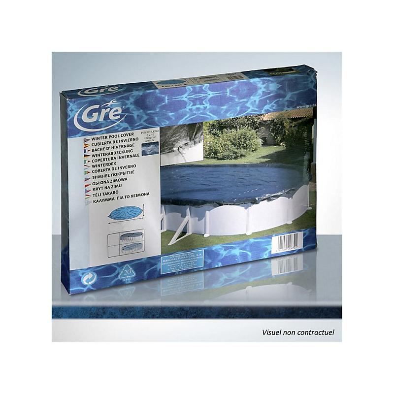 Bâche hiver pour piscine 610 x 37 cm