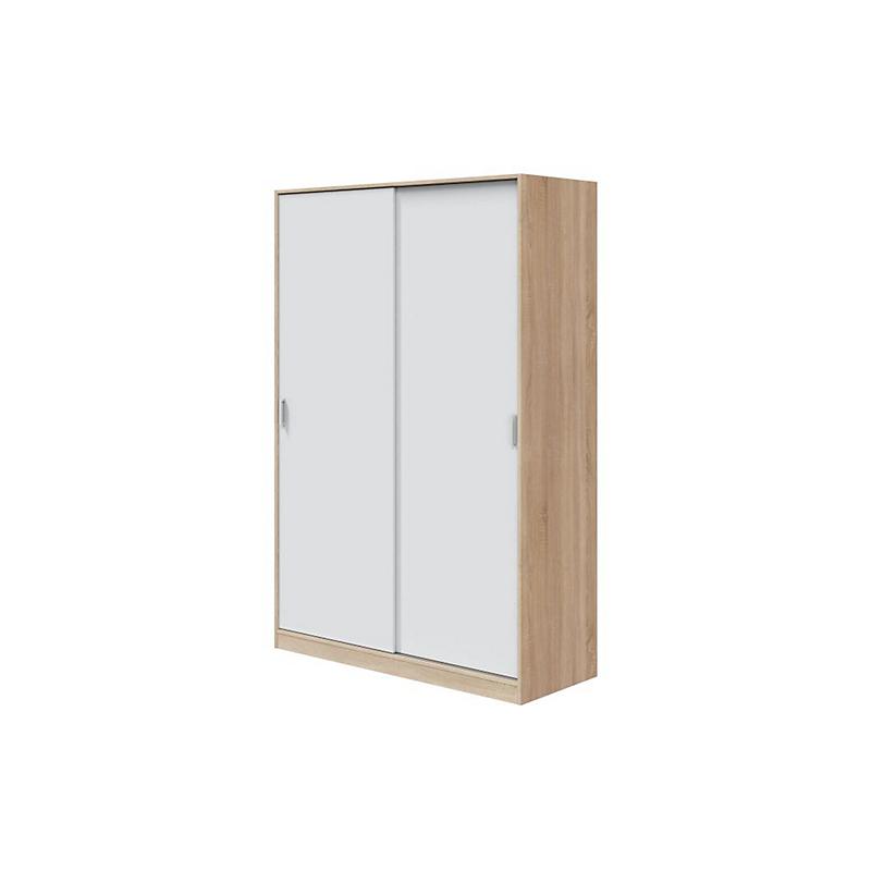 Armoire 2 Portes Coulissantes blanc bois L120 x P50 x H200 cm