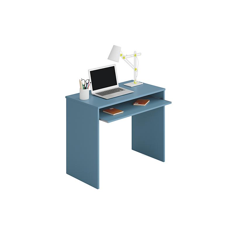 Bureau avec tablette extractible bleu L90 x P54 x H79 cm ELSA