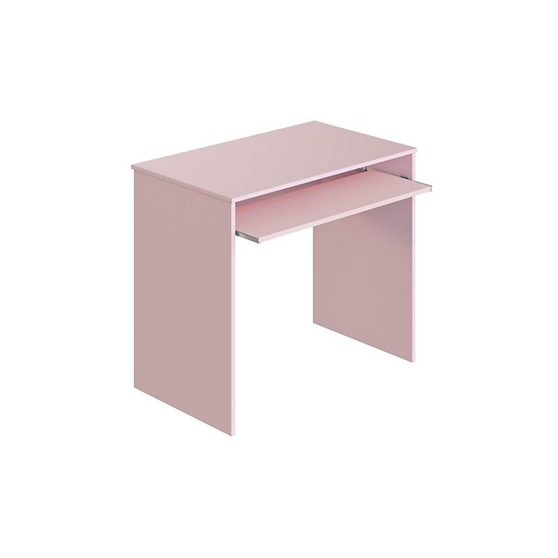 Bureau avec tablette extractible rose L90 x P54 x H79 cm ELSA