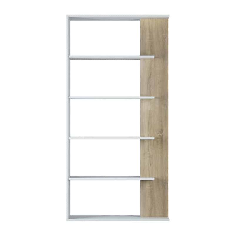 Bibliothèque 4 tablettes bois blanc L90 x P25 x H180 cm
