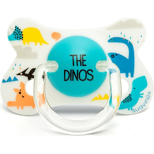 Sucette silicone réversible dino total look fusion 4-18 mois