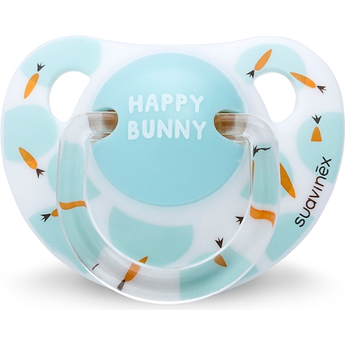 Sucette latex happy bunny blanc 0-6 mois