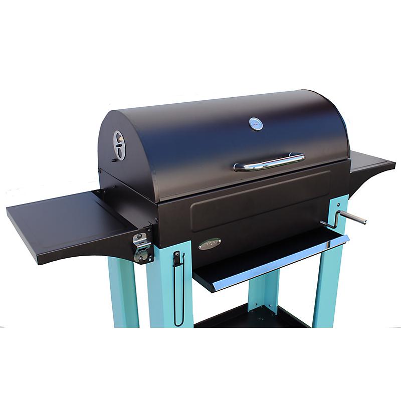 Barbecue charbon de bois MILANO bleu en métal