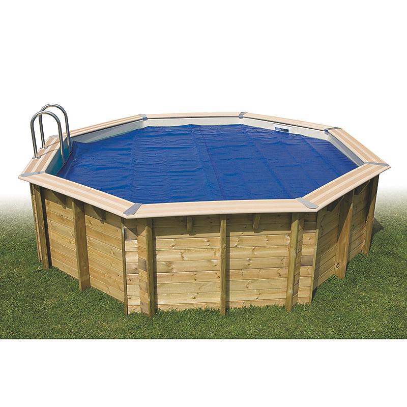 Bâche à bulles été pour piscine en bois 360 cm