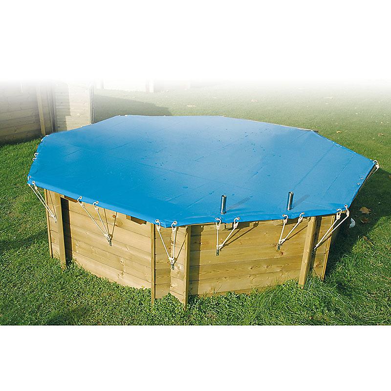 Bâche hiver pour piscine octogonale 360 cm