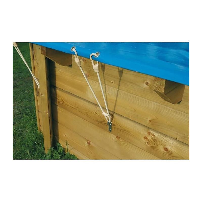 Bâche hiver pour piscine octogonale 300 x 490 cm