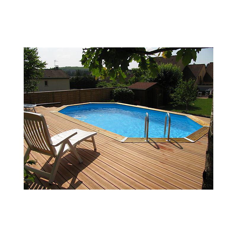 Piscine bois octogonale 610 x 400 cm