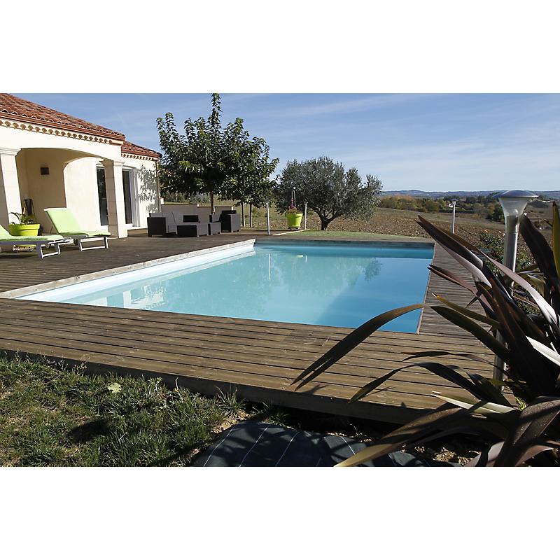 Piscine bois rectangulaire 555 x 300 cm